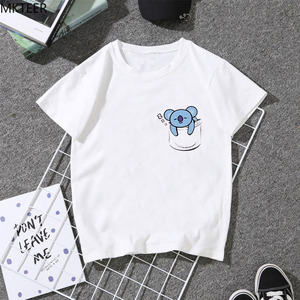 Funny Animal T-shirt Harajuku Personality Women's T Street Fashion Casual Ulzzang O-Neck Tshirt 2019 Summer Lovely White Short