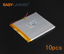 10pcs/Lot 3.7V 4000mAh Polymer Li-ion Battery For E-Book Power Bank PDA Portable DVD Consumer electronics safety lamp 458292