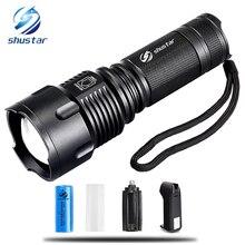 Мощный тактический светодио дный фонарик T6 светодио дный лампы 10000 люмен масштабируемой Водонепроницаемый факел для 26650 Перезаряжаемые или AA Батарея