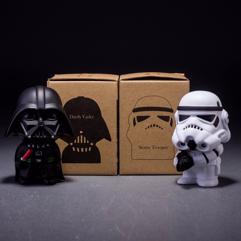 10cm 2pcs/lot Cute Style Star War Darth Vader Kawaii Movie Action Figure Model Toys