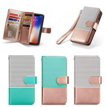 9 Card Slot Wallet Case for iPhone 6 7 8 X Xr Xs Max PU Leather Flip Phone Shell Back Cover for Samsung S10 S9 S8 Note8 Note9 mooncase litch skin leather side flip wallet card slot pouch slim shell back чехол для lg l70 red