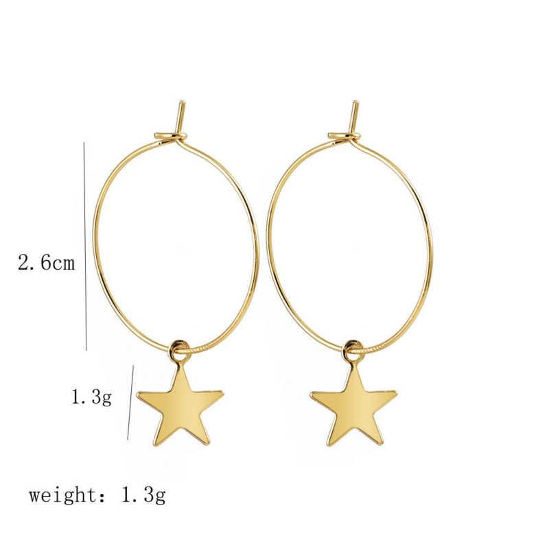 ใหม่ต่างหูแฟชั่นยอดนิยมบุคลิกภาพ Pentagram Ear แหวนหญิงอุปกรณ์เสริมขายส่งและการค้าต่างประเทศสำหรับสตรี