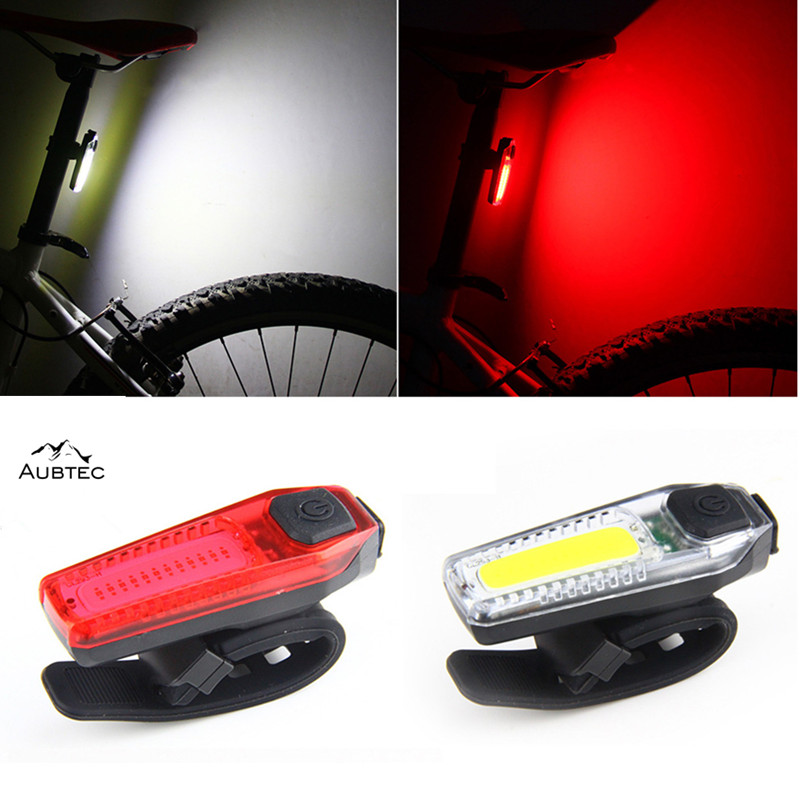 USB Rechargeable Bike Lights Mountain Bike LED Tail Light Taillight Safety Warning Bicycle Rear Light Night Cycling Drop ship