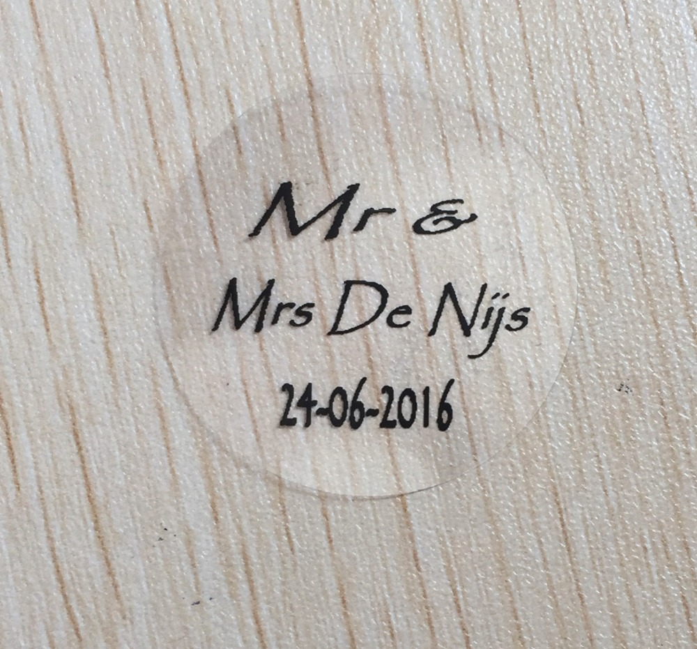 30pcs 30mm Wedding bridal shower Labels Personalized date and name ...