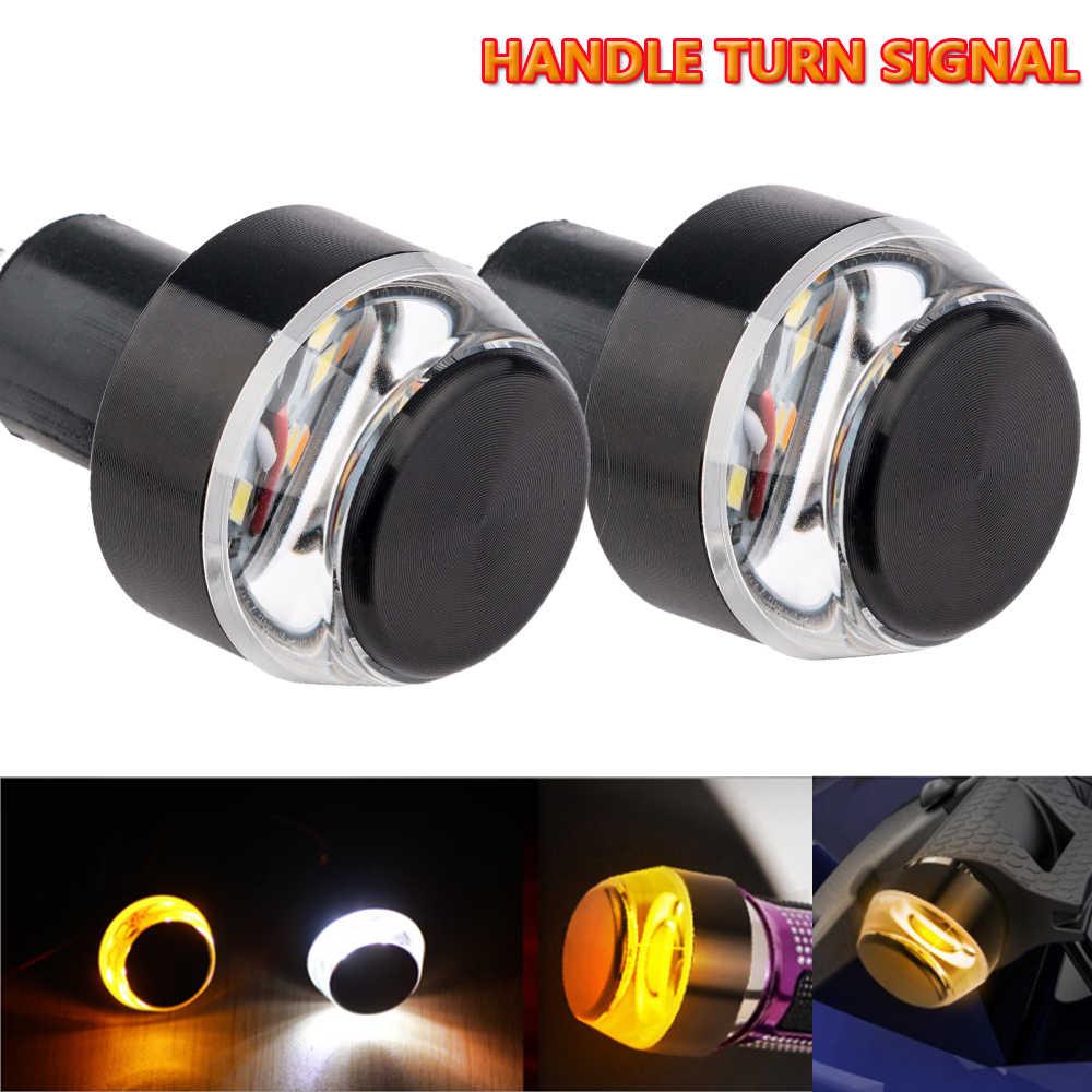 1 adet/2 adet 12V LED motosiklet gidonu kuyruk dönüş sinyal ışığı sarı evrensel DRL gösterge flaşör kolu lambası