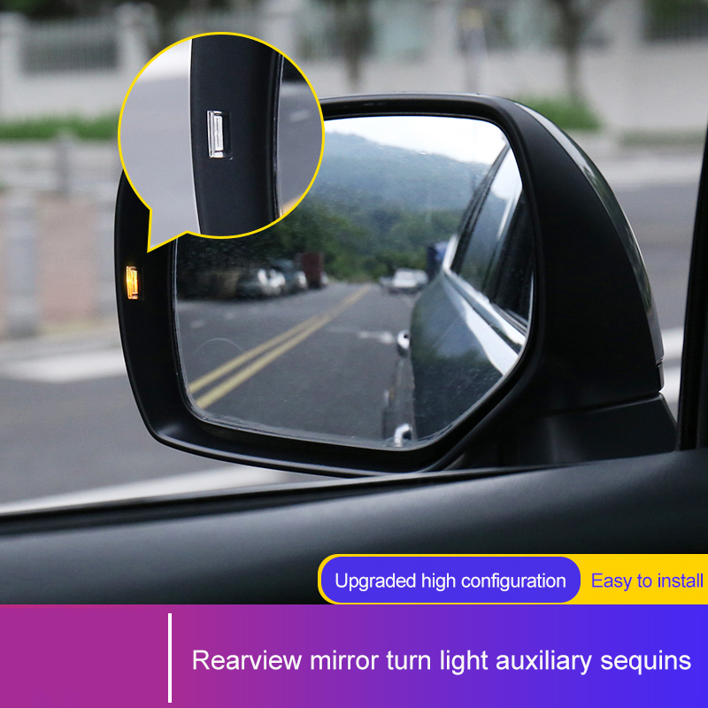 QHCP 1Pair Rearview Mirror Steering Turn Light Lamp Assist Sequins PC Sticker For Subaru Forester Outback XV Legacy Car Styling