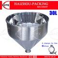 HZPK 304 316 Хоппер из нержавеющей стали Использование с пастой разливочная машина 30 литров объем может для меда Чили пасты воды напитки 30 л