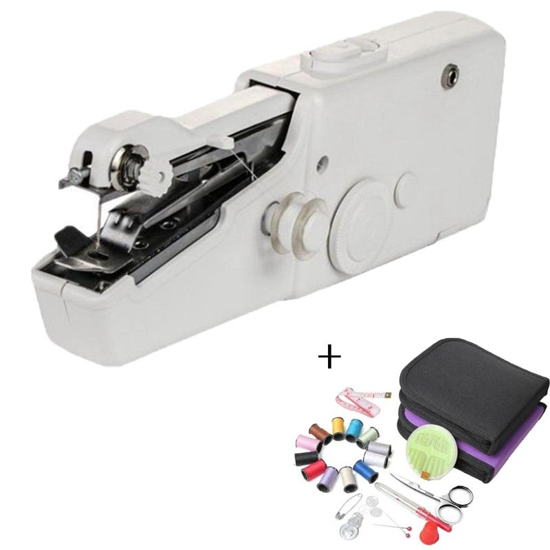 المحمولة المحمولة آلات الخياطة غرزة خياطة الإبرة اللاسلكي الملابس الأقمشة الخياطة الكهربائية آلة التطريز الخياطة كيت