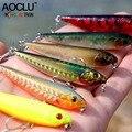 AOCLU wobblers Super calidad 6 colores 60mm cebo duro Minnow manivela Popper Stick pesca señuelos bajo agua salada fresca 10 # VMC ganchos
