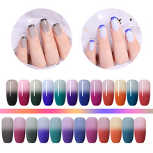 NICOLE DIARY 10g Dipping Nail Powder Thermal Color Changing Gray Purple Colors Natural Dry Art Design Decoration