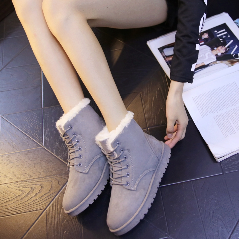 Neige Tube De Bottes Non Nouvelles slip 2019 Courtes Court Coton Femmes Chaussures Velours D'hiver Chaud Plus wqTtzB