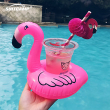 5 Pcs Pool Toys Air Mattresses for Cup Inflatable Flamingo Drinks Holder Floats Bar Coasters Floatation Devices