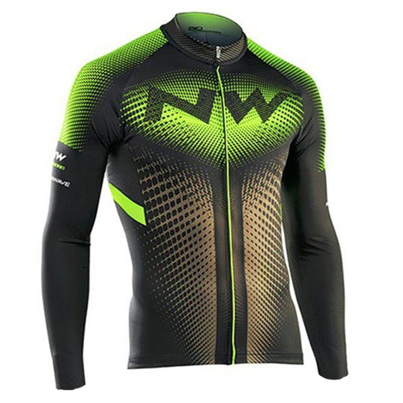 Long Sleeve Men's Cycling Jersey Breathable NW Brand Cycling Bicycle Clothing Quick-Dry Mountain Bike Clothes Cycling Wear