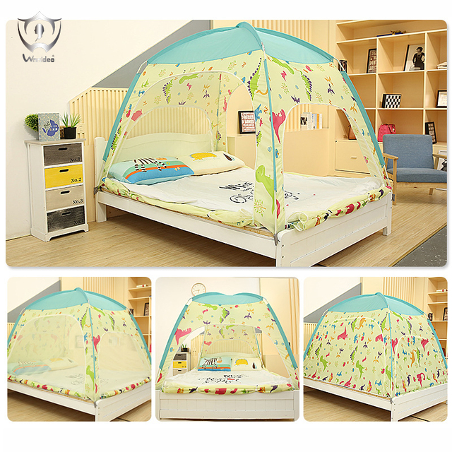Wnnideo 3 4 Child Tent Kids Bed Play House Ventilated Insect Proof For Indoor Warm And Large Doors Newest Style