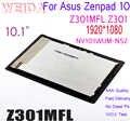 WEIDA Per Asus Zenpad 10 Z301MFL Z301 cavo Giallo 1920x1080 Display LCD Assemblea di Schermo di Tocco NV101WUM-N52
