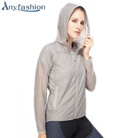 Summer Sunscreen Anti Ultraviolet Outdoor Running Hiking Jacket For Women Quick Dry Windbreaker Super Light Sportswear