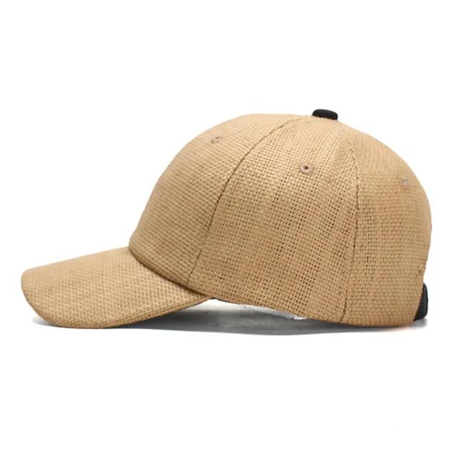 2019 New Straw Baseball Cap Snapback Cap Adjustable Casquette Bones Gorras Casual Dad hat for Men Breathable and Cool Cap