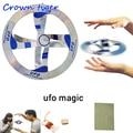 Магия игрушка НЛО загадочный НЛО летающее блюдце НЛО фокус реквизиты для магических трюков Показать Инструмент летающие Магия НЛО игрушки для детей - фото