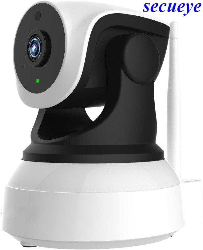 Secueye 720 P/1080 P HD De Sécurité Sans Fil WiFi Caméra IP Réseau À Distance Surveillance1.0MP D'intérieur de Bourdonnement D'inclinaison de Casserole de L'enregistrement Audio Cam