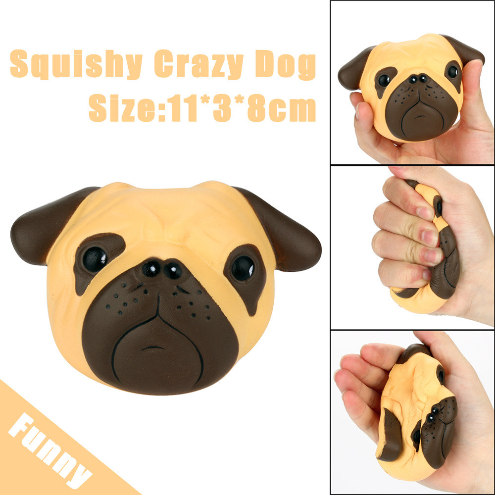 Funny Anti-stress For Children Boys Girl Adult Exquisite Fun Crazy Dog Scented Squishy Charm Slow Rising 8cm Simulation Kid Toy