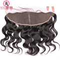 7A Lace Frontal Closure Indian Human Virgin Hair Body Wave Wavy Full Lace Frontals With Baby Hair 13x4 Ear to Ear Lace Frontal