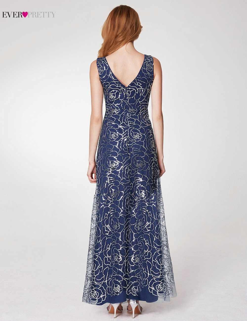 אי פעם די נוצצים כהה כחול ערב שמלות 2019 חדש הגעה V צוואר קו גבוהה פיצול פורמליות נשים ערב שמלות EP07287NB