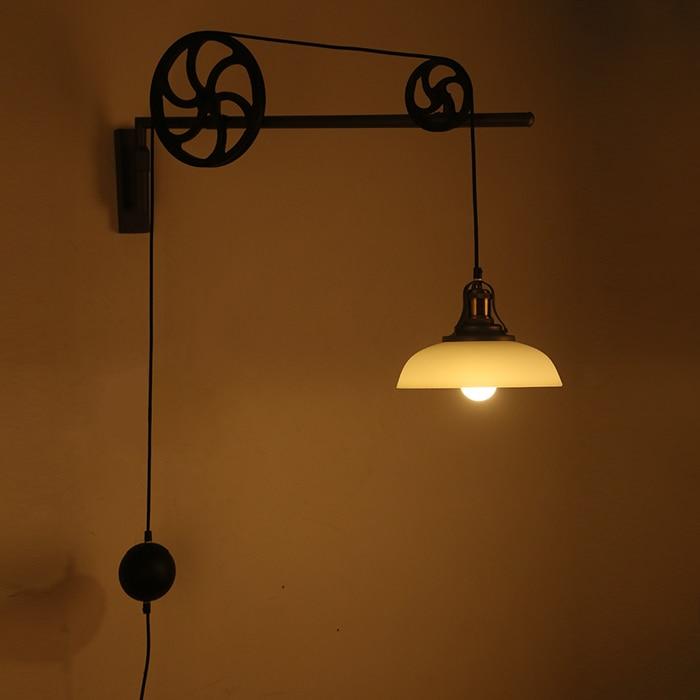 Ретро скандинавский промышленный Телескопический редуктор настенный светильник новый скандинавский ветер магазин одежды свет столовая г