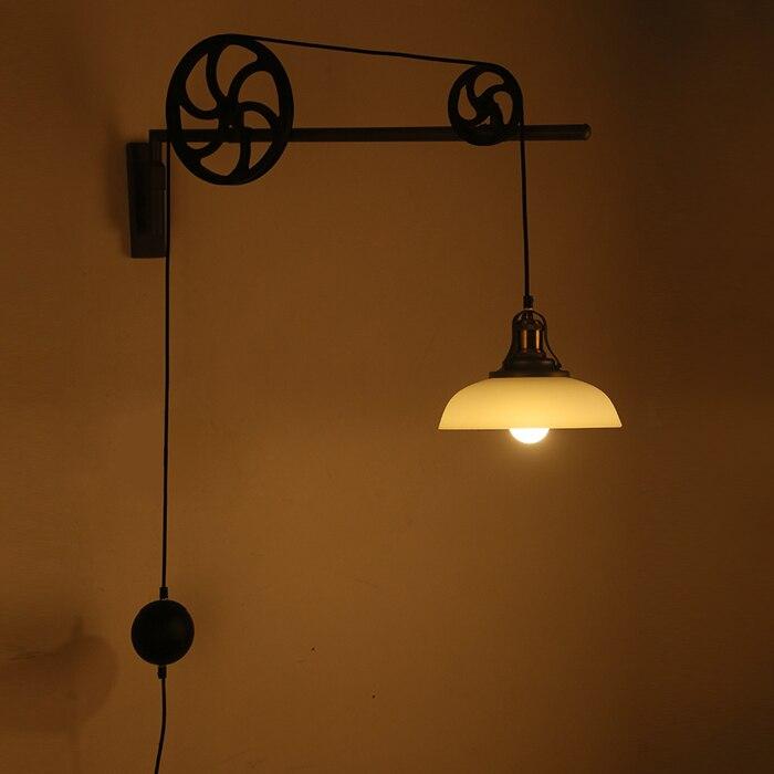 Ретро Nordic industrial Телескопический передач бра New Nordic ветер магазин одежды свет столовая гостиная свет ZH gy328