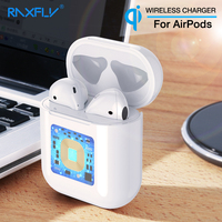 RAXFLY For Airpods Wireless Charging Protection Box Charger Wireless Receiver Case One USB Adapter QI Charging For Apple Airpods