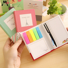 Creative Cute Hard Shell Small Fresh Combination Sticky Notes Sticky Note Set With Pen Scrapbook Stickers Student Stationery