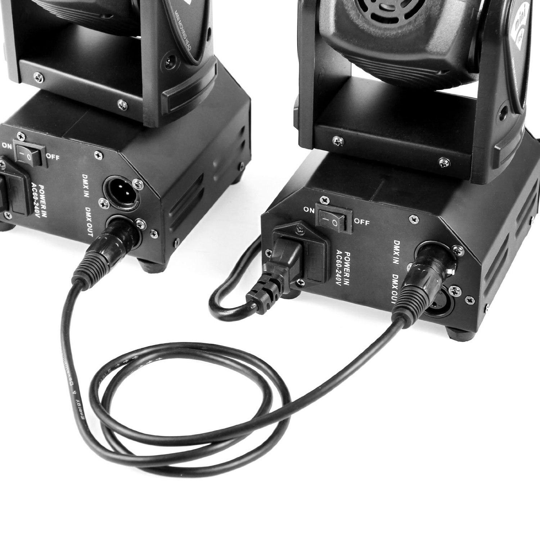 10-pack 3-stifts signal XLR-anslutning DMX Stage Light kabelkabel - Kommersiell belysning - Foto 5