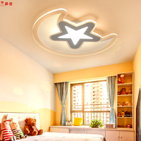 The star with moon modern led ceiling lights for bedroom kids ceiling light remote control ceiling lamp fixture