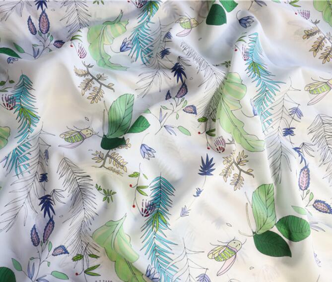 Rafraîchissant natureluxe marque haute qualité tissu super belle soie tissu tissu tissu 12 commande soie crêpe tissu