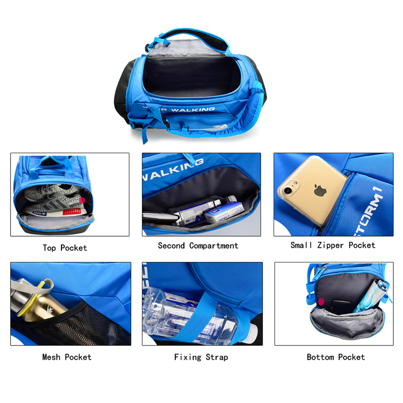 30L Large Capacity Travel Duffel Bag Waterproof Nylon Gym Bag Hiking Sling Shoulder Durable Camping Daypack Tourism Backpack