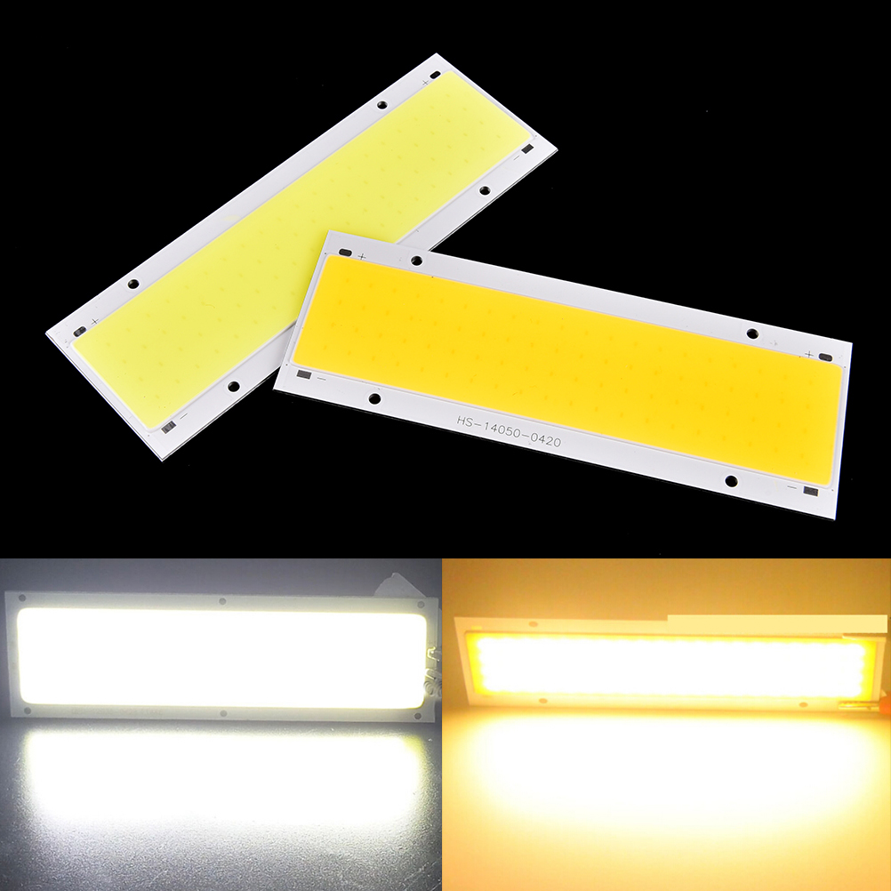 DIY Car Work Lights COB LED Strip Light Bulb Lamp 12V 9450 Warm Natural Cold White COB Matrix 140x50mm цена