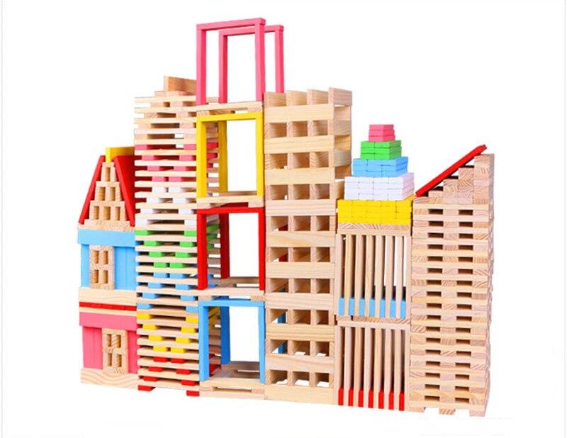 150PCS Wooden Building Blocks Jenga For Children Kids Learning Education Intelligence Model Shape Toys Gift bill handley speed learning for kids