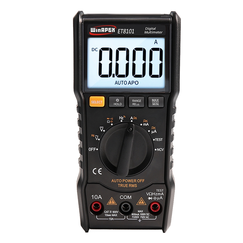 WINAPEX Digital Multimeter Tester 3 5/6 1000V 10A AC DC 6000 True RMS Digital Voltmeter