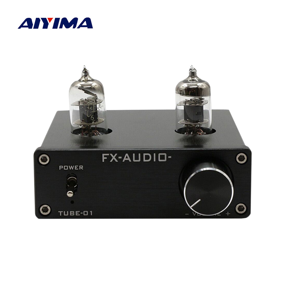 Aiyima 6JI Tube Amplifier Preamp Fever Tube Preamplifier HiFi Bile Preamp 6J1 Amplifier AMP DC12V DIY Sound System Home Theater 2016 new matisse amp dc12v 2a bile preamp tube preamp buffer 6n3 5670 tube pre amp hifi audio tube preamplifier power supply