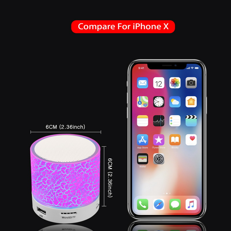 GETIHU LED Bluetooth Speakers Wireless Portable Mini Hands Free Speaker TF USB FM Mic Blutooth Music For iPhone 8 X Mobile Phone 5