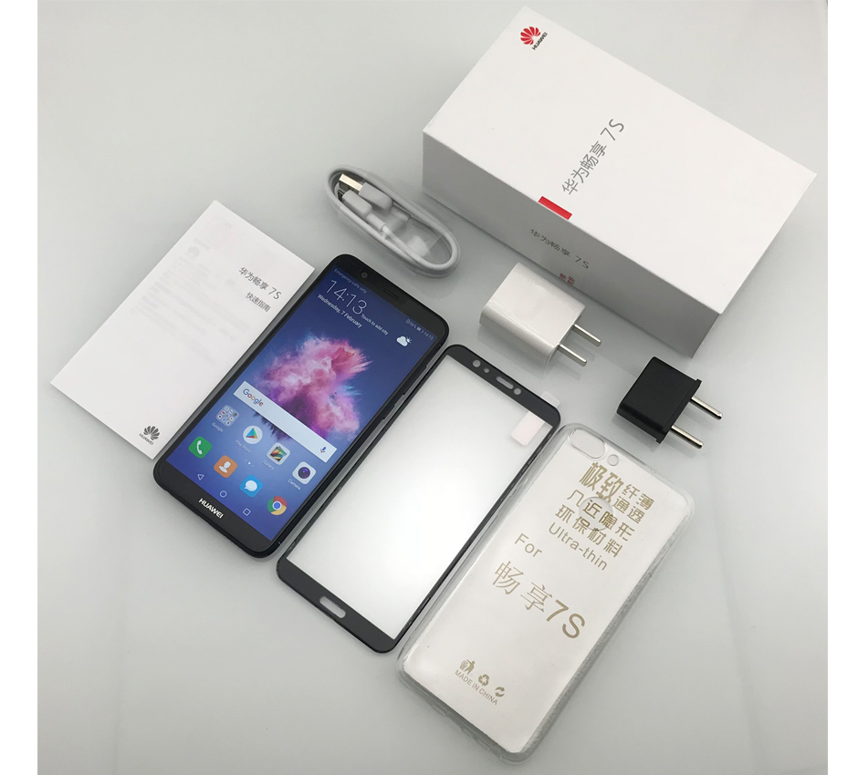 """Международная прошивка HuaWei Enjoy 7 s P Smart 4G LTE сотовый телефон Android 8,0 2160 """"ips 5,65X1080 4G B оперативная память 6 4G B Встроенная отпечатков пальцев"""