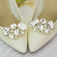 1 Couple Cargo free lady color flower shoe buckle Strass crystal decorations  clips shoe charms accessories f217e66dbffa