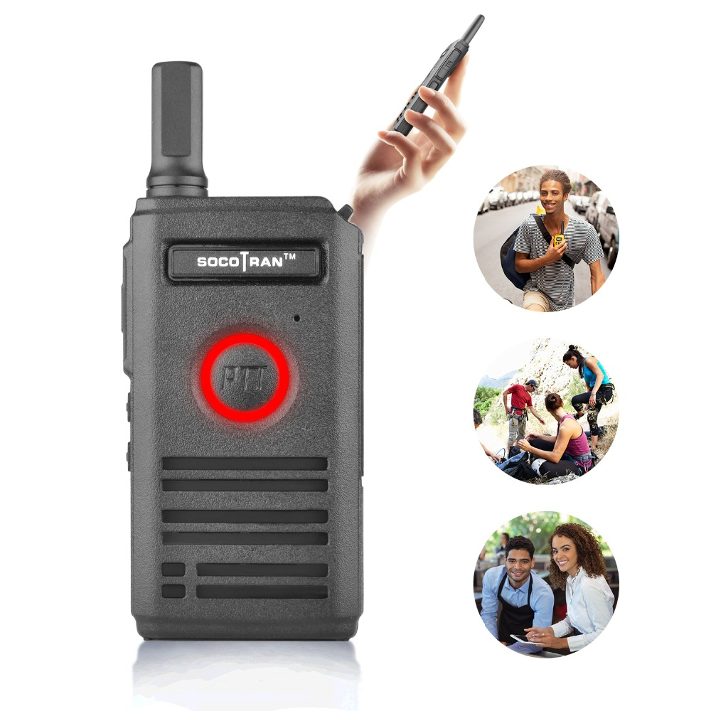 TO Russian SC-600 UHF Mini Walkie Talkie Amateur Radio 400-470MHz Ultra Slim Handheld Two Way Radio Double PTT Light Easy Carry