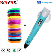цена на IGRARK 3D Pen 3D Printer Pen 3D Printing Drawing Pen With 100 Meters 20 Color ABS Filament Magic Maker Arts for Christmas Gift