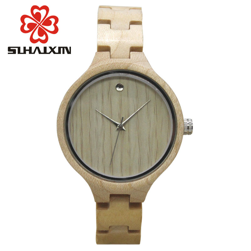SIHAIXIN Wood Female Watch Made From Sandalwood With Luxury Edition Series of Wooden Watches Can Engraved Personal Text Clock concept of vortex female student individuality creative watch han edition contracted fashion female table
