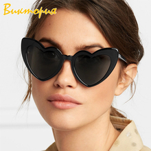 CHARAS Brand Designer Vintage Sunglass Fashion Love Heart Sunglasses New Cute Sexy Ladies Cat Eye