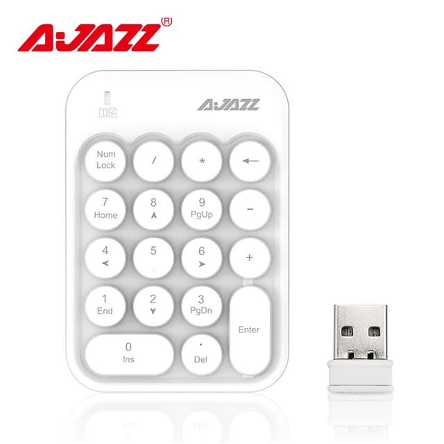 Ajazz AK18 2,4 г беспроводная цифровая клавиатура USB номер pad мини цифровая клавиатура 18-key портативный для ноутбук Laptop персональный компьютер