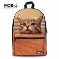 New 3d mulheres meninas da escola mochila bonito da cópia do gato ombro mochilas para estudantes universitários campus back pack animal da cara do gato