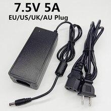 7.5 V 5A adattatore ca/cc adattatore di alimentazione universale unità di alimentazione da 7.5 Volt Conveter di commutazione 7.5V5A EU US UK AU cavo spina 5.5*2.5mm