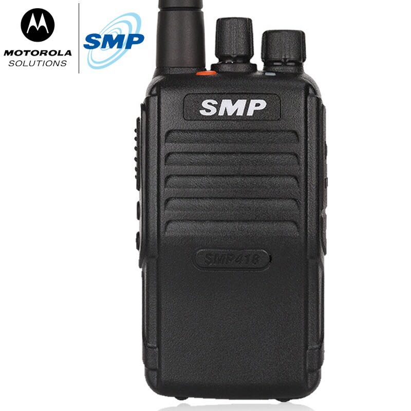 bilder für 2 stücke walkie-talkie für motorola smp 418 uhf 2 way tragbares radio walkie talkie transceiver handheld