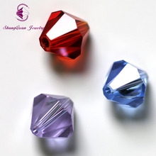 Shangquan Wholesale AAA crystal glass 5301 # loose spacer bicone Beads 100 PCS SQ3A10MM